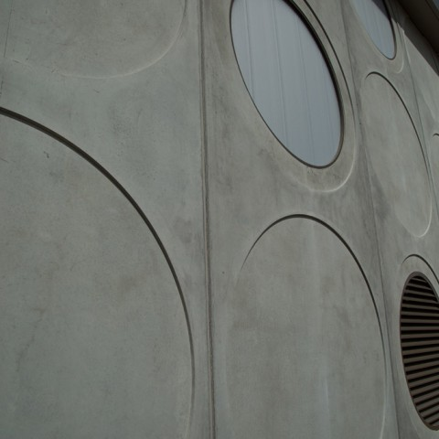 Close-up of precast concrete panels by Otway Precast