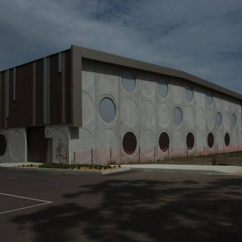 Precast concrete panelling for fitness centres