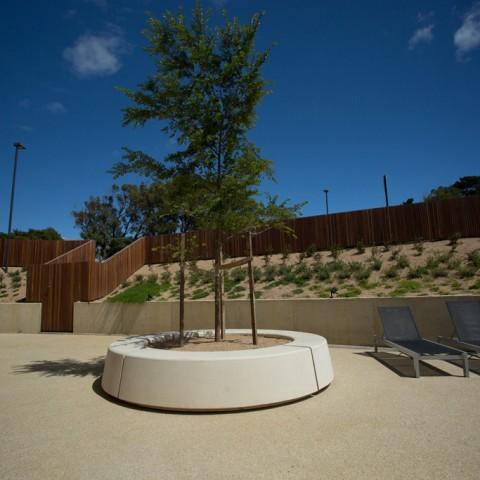 Commercial concrete planters by Otway Precast