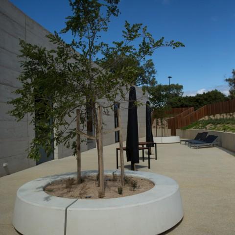 Commercial precast concrete planters