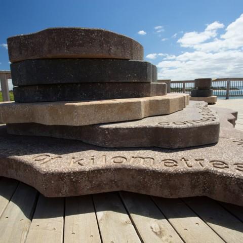 Exposed shell aggregate concrete design, Torquay
