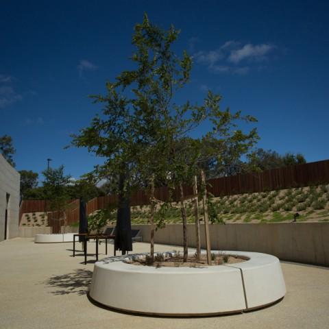 Precast concrete planters at RACV Resort Torquay