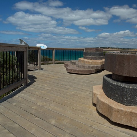 Rocky Point landscaping project by Otway Precast